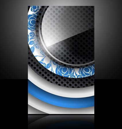 brochure card banner metal flower glass abstract background style Vector