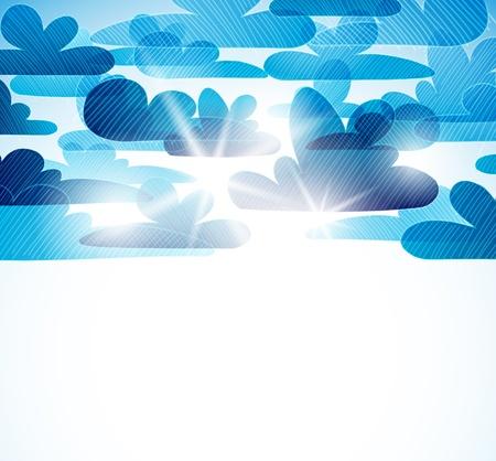 sky background Stock Vector - 11084714