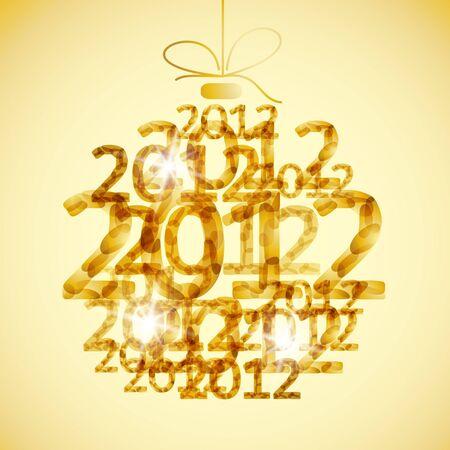merry christmas toy ball xmas happy new year card celebration circle Stock Vector - 11175132