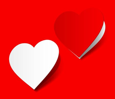 scarlet: I love you heart sticker red scarlet realistic shadow symbol sign object paper emotion