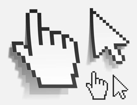 realistic vector cursor Stock Photo - 11265237