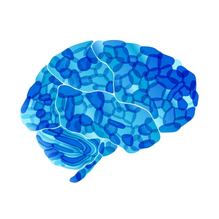 human brain, cold mind, vector abstract background photo