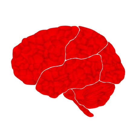 human brain, aggressive intentions, vector abstract background Stock Photo - 11453096