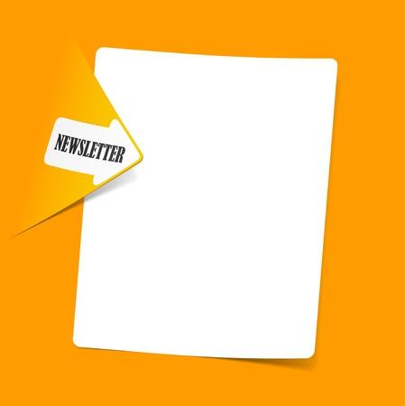 newsletter, realistic design elements Foto de archivo