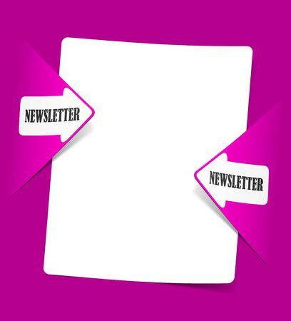 newsletter, realistic design elements Stock Photo - 11452644