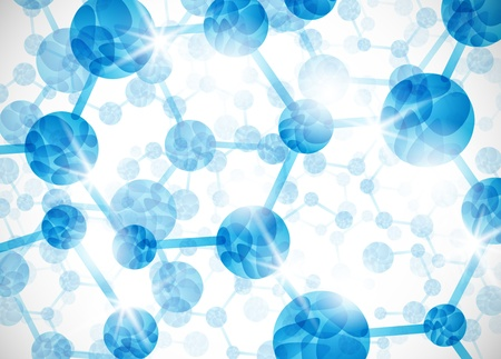 molecular structure, abstract background Vector