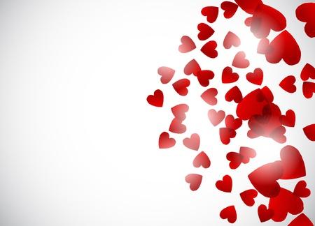 San Valentín de fondo