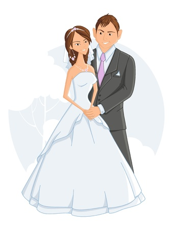 bridegroom: wedding, vector illustration