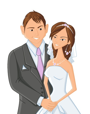 wedding, vector illustration Vector