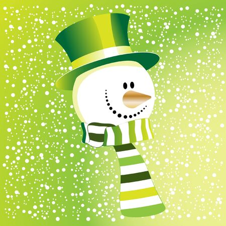 The green snowman Vector