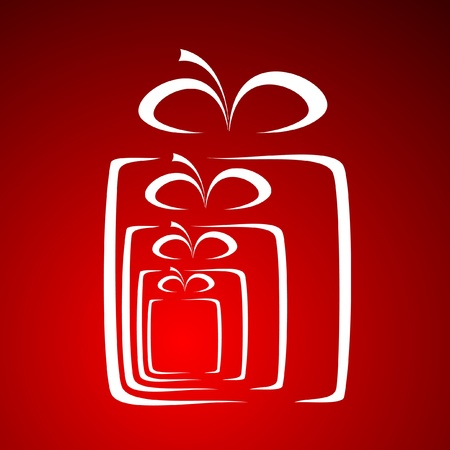 stylized gift vector Stock Vector - 11649717
