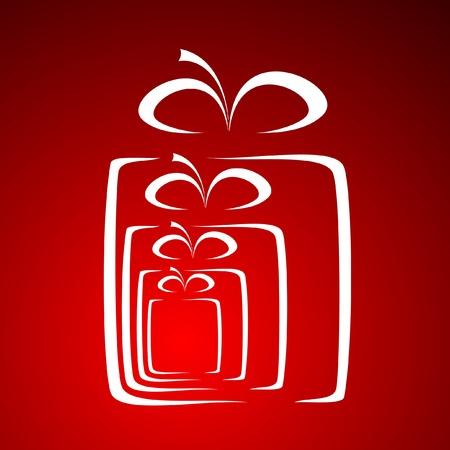 celebrate life: stylized gift vector