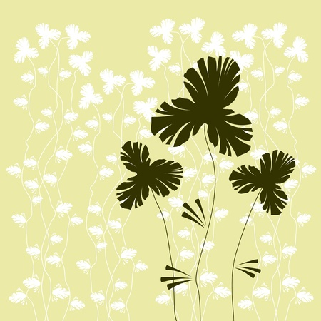 flowers silhouette: floral background