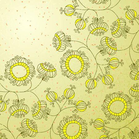 greeting: flowers illustration