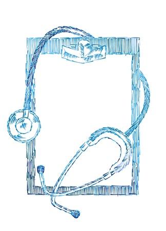 infermiere paziente: background medico Vettoriali