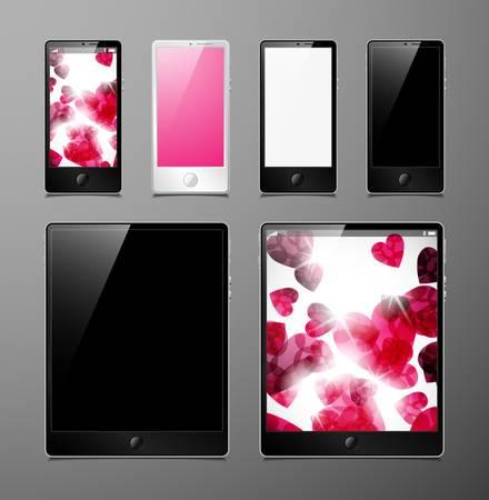 vector set, tablets and smartphones Stock Vector - 13406287