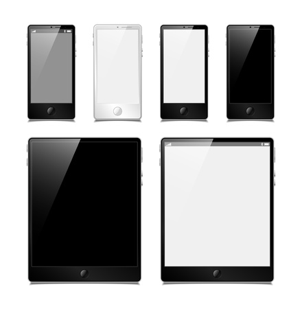 vector set, tablets and smartphones