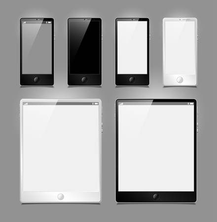 vector set, tablets and smartphones Stock Vector - 13599458