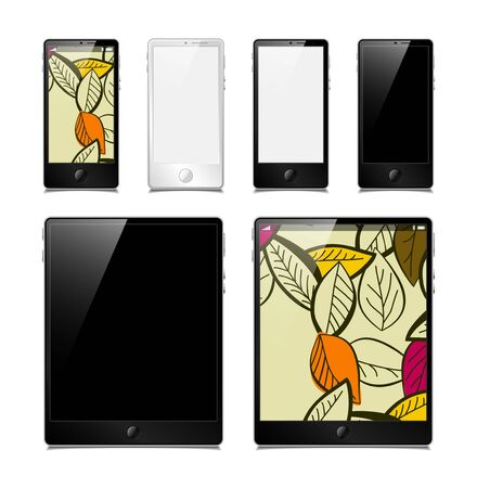vector set, tablets and smartphones Stock Vector - 13599461