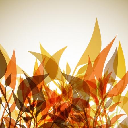 el otoño de fondo Ilustración de vector