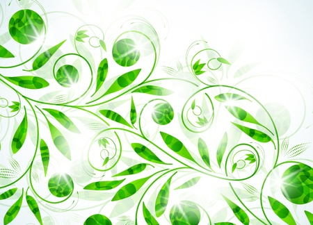 floral background, vector abstract background Vector