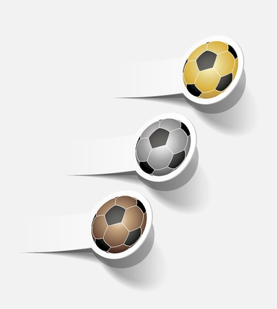 sticker with a picture of a soccer ball Vector