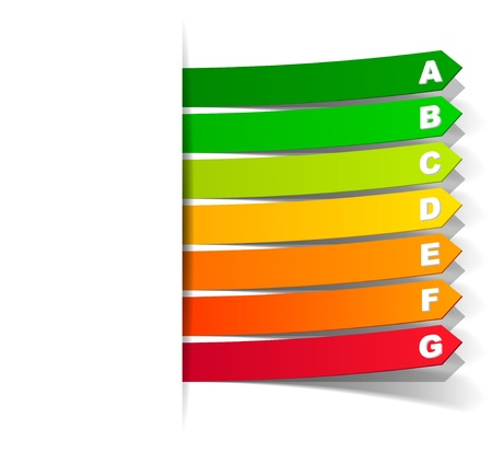 classification: energy classification in the form of a sticker