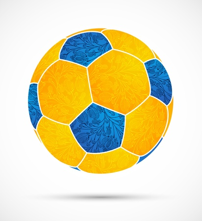 abstract soccer ball Vector
