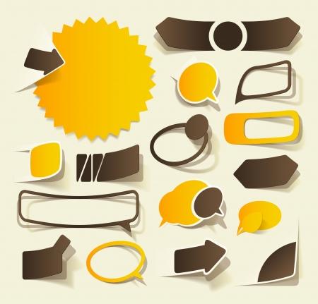 design graphic: realistic design elements