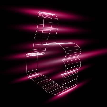 """abstract symbol of """"like"""" in style 3D Vector"""