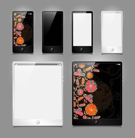vector set, tablets and smartphones Stock Vector - 14088655