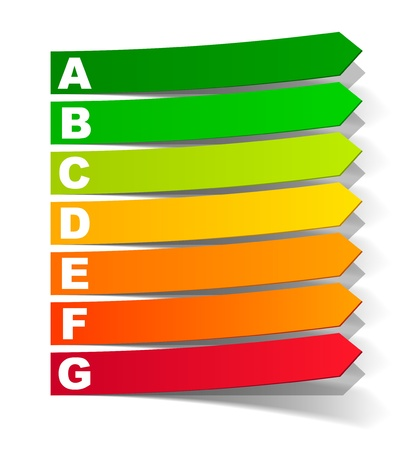 energy classification in the form of a sticker Stock Vector - 14088643