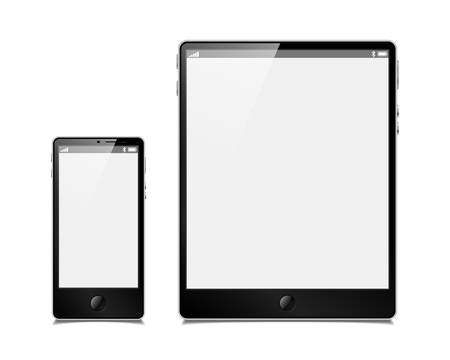 touchpad: vector set, tablet and smartphone