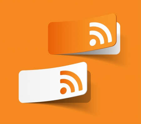 icono wifi: rss etiqueta