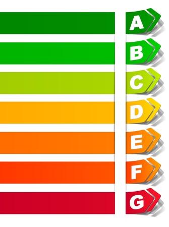 ステッカーの形でエネルギー分類