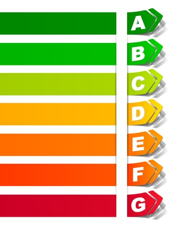 energy classification in the form of a sticker Vector