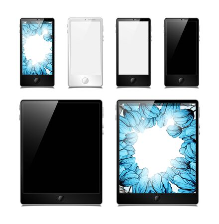 tablets and smartphones Stock Vector - 14812024