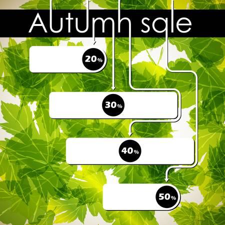 autumn discount sale Stock Vector - 14812032