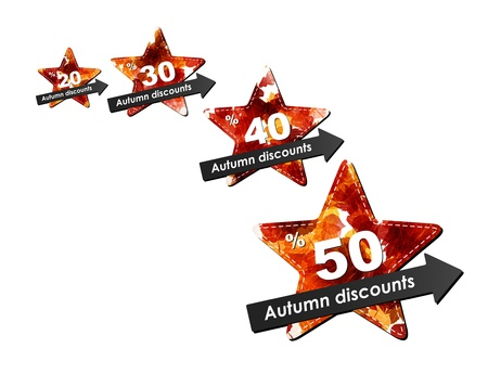 autumn discount sale Vector