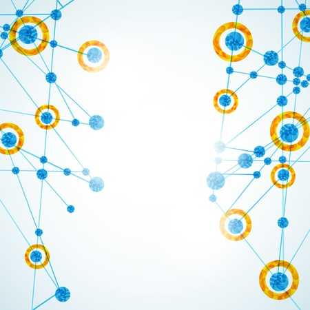 structure moléculaire, fond abstrait