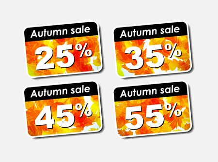 autumn discount sale Stock Vector - 15133724
