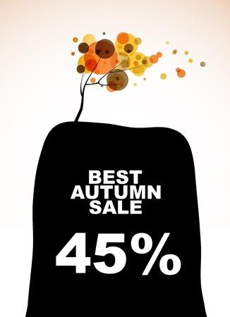 mount price: autumn discount sale Illustration