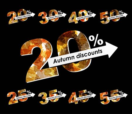 autumn discount sale Stock Vector - 15499727