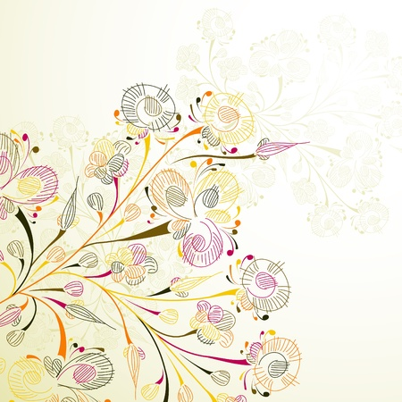 floral background Stock Vector - 15422609