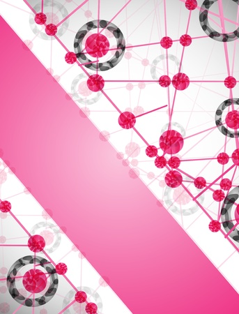 encoded: molecular structure, abstract background