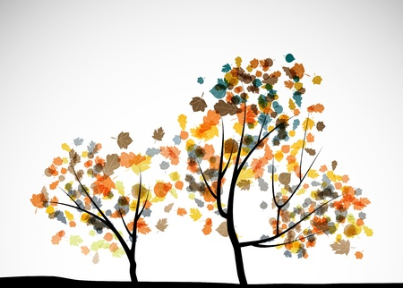 yellow leaves: autumn tree background
