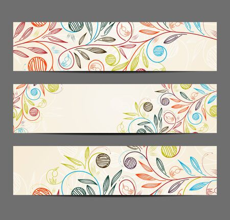 background design: banner with floral pattern