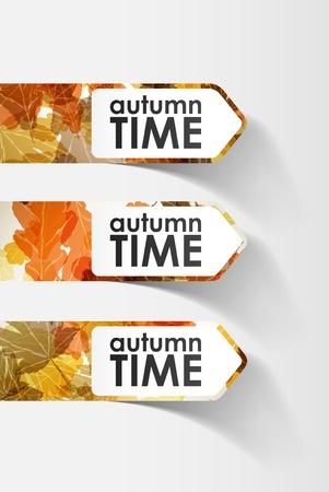 pricetag: autumn sticker Illustration
