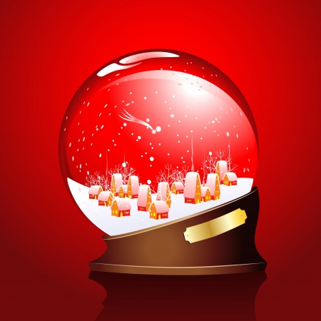 winter sphere with a town Stock Vector - 15745505