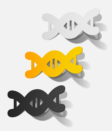 molecule in the form of a sticker  Stock Vector - 15823538